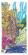Seahorse Sanctuary  Beach Towel