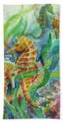 Seahorses Three Beach Towel