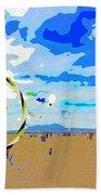 Seal Beach Kite Fly Beach Towel