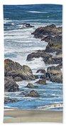 Seal Rock Seascape Beach Towel