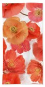 Seamless   Pattern Of Watercolor Poppy Flowers Beach Towel