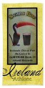 Seans Bar Guinness Pub Sign Athlone Ireland Beach Sheet