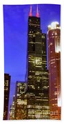 Sears Tower Chicago Beach Towel
