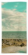 Seascape Cloudscape Retro Effect Beach Towel