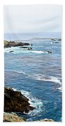 Seascape From Point Lobos State Reserve Near Monterey-california  Beach Towel