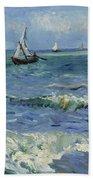 Seascape Near Les Saintes Maries De La Mer Arles June 1888 Vincent Van Gogh 1853  1890 Beach Towel
