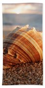 Seashell In The Sand Beach Towel