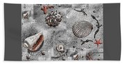 Seashells Collage Of Any Color Beach Towel