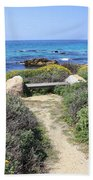Seaside Bench Beach Towel