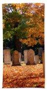Seaside Cemetery Beach Towel
