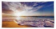Seaside Sunset Beach Towel