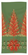 Season' Greetings 1 Beach Towel