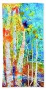 Seasonal Stream Of Consciousness Beach Sheet