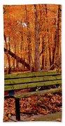 Seat To Autumn Beach Towel