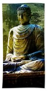 Seated Buddha Beach Towel