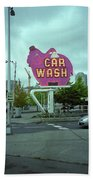 Seattle - Elephant Car Wash 2 Beach Towel