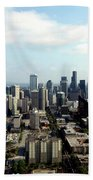 Seattle From Above Beach Towel