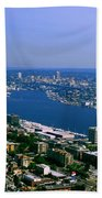 Seattle From Space Needle Beach Towel