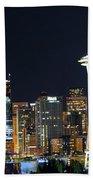 Seattle Night Sky Beach Sheet