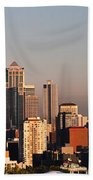 Seattle Sunset Panorama Beach Towel