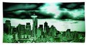 Seattle - The Emerald City Beach Towel