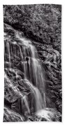 Secluded Falls - Bw Beach Towel
