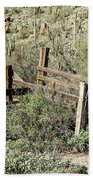 Secluded Historic Corral In Sonoran Desert Beach Towel
