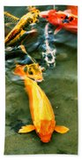 Secrets Of The Wild Koi 11 Beach Sheet