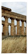 Segesta Greek Temple In Sicily, Italy Beach Towel