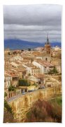 Segovia Cathedral View Beach Towel
