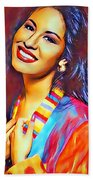 Selena Queen Of Tejano  Beach Towel