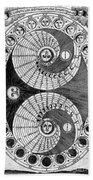Selenic Shadowdial, Lunar Chart, 1646 Beach Towel