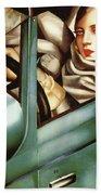 Self Portrait In A Green Bugatti Beach Towel