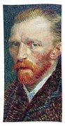 Self Portrait Vincent Van Gogh Beach Towel