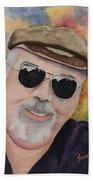 Self Portrait With Sunglasses Beach Towel