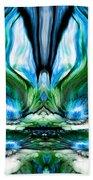 Self Reflection - Blue Green Beach Towel