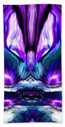 Self Reflection - Purple Blue Beach Towel