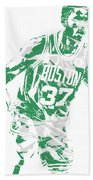 Semi Ojeleye Boston Celtics Pixel Art 2 Beach Towel