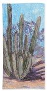 Senita Cactus Beach Towel