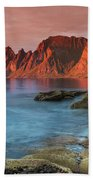 Senja Red Beach Towel
