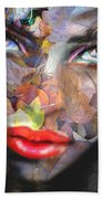 Sensual Eyes Autumn Beach Towel