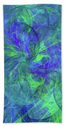 Sentimental Nature Abstract Beach Towel
