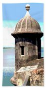 Sentry Box In El Morro Beach Towel
