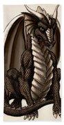 Sepia Dragon Beach Towel