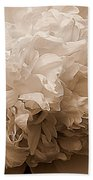 Sepia Series - Peony Beach Towel