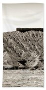 Sepia Tones Nature Landscape Nevada  Beach Towel