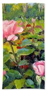 September Roses Beach Towel