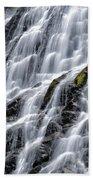 Serene Waterfall Beach Towel