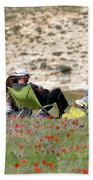 Serenity At Lachish Beach Towel