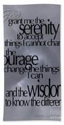 Serenity Prayer 05 Beach Sheet